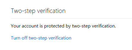 Two Factor Authentication Enabled