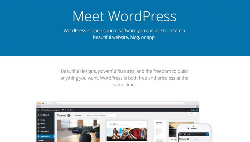 WordPress.org Launches Homepage Redesign