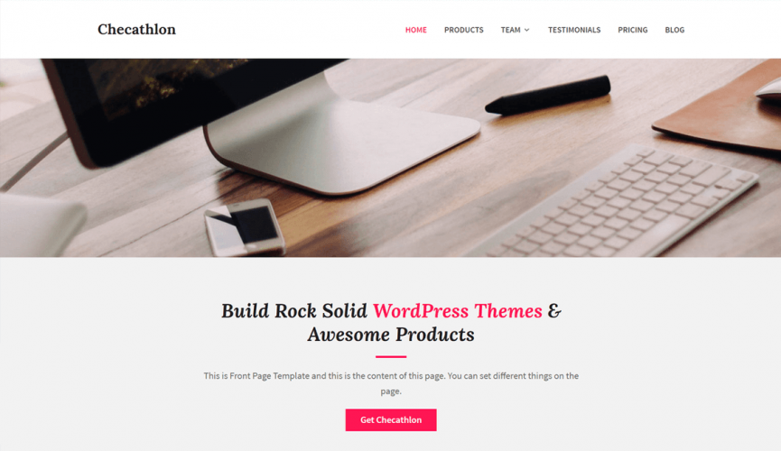 Checathlon: A Free WordPress Business Theme with Support for Easy Digital Downloads