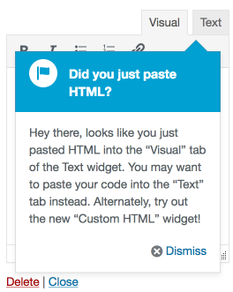 TextWidgetAdminPointer