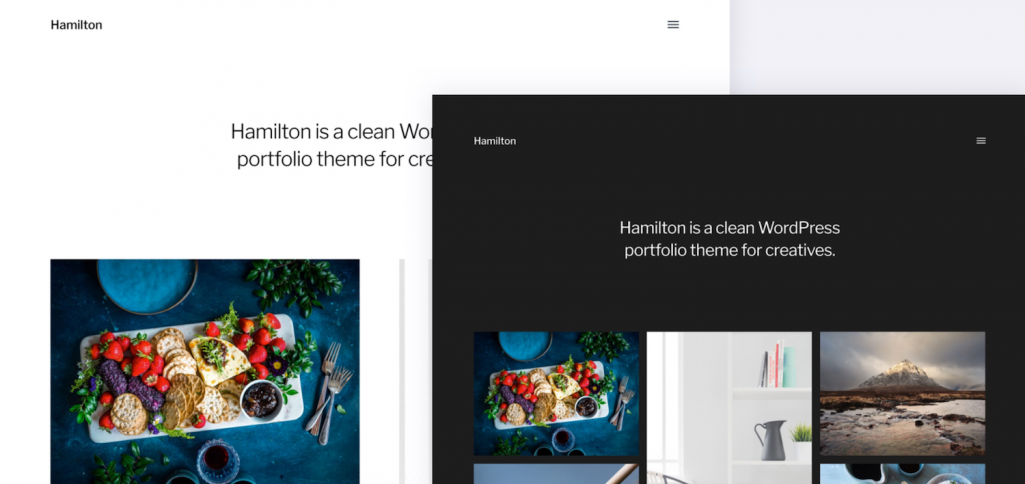 Hamilton: A Free WordPress Portfolio Theme for Photographers, Illustrators, and Designers