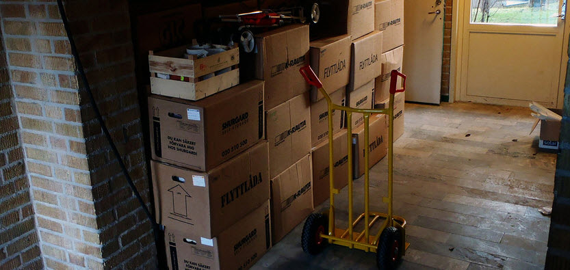 Removing Boxes Stored in The Garage