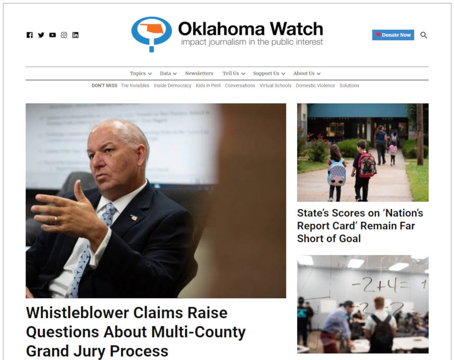 ok-watch-homepage Oklahoma Watch Becomes First U.S. Publication on Newspack; 34 Pilot Newsrooms Announced for Second Round design tips  News|Newspack