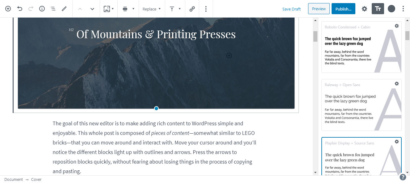 ek-typography-page EditorsKit Tackles Typography With First Premium Add-On design tips  News|editorskit