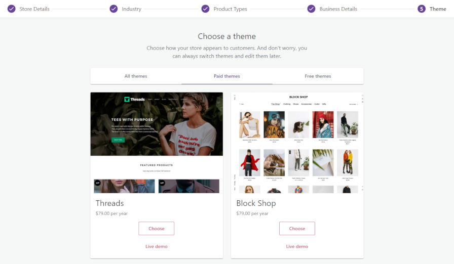 wc-onboarding-themes WooCommerce 4.0 Lands with New Admin Interface and Updated Onboarding Experience design tips  News|Plugins|woocommerce|WooCommerce admin