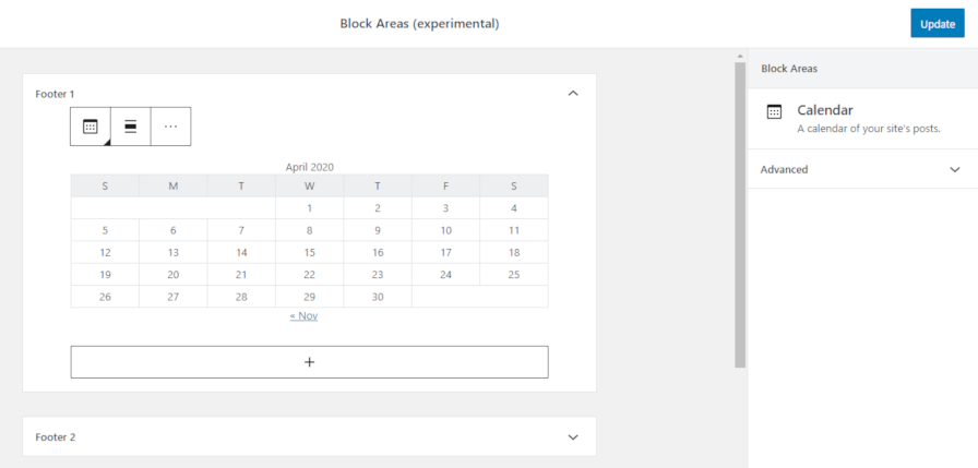 block-areas-widgets The Road Ahead: What's in Store for WordPress for the Rest of 2020? design tips  Opinion|WordPress