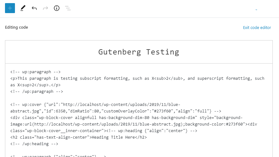 gb-80-code-editor Gutenberg 8.0 Merges Block and Pattern Inserter, Adds Inline Formats, and Updates Code Editor design tips  News|Plugins|gutenberg