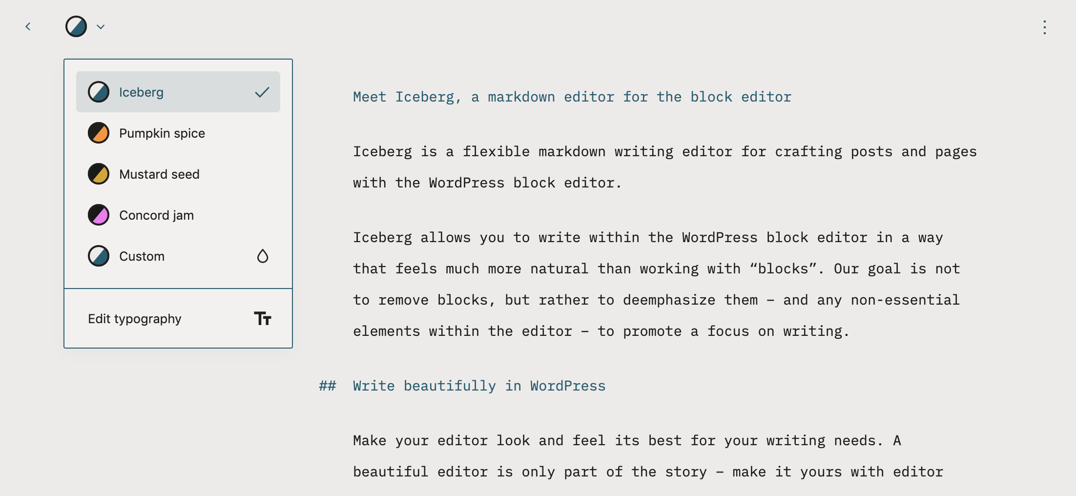 , New Iceberg Plugin Brings a Distraction-Free Writing Experience to WordPress