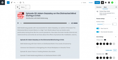 , Jetack 8.5 Adds New Podcast Player Block