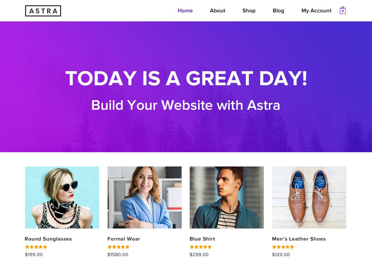 Astra WordPress theme screenshot.