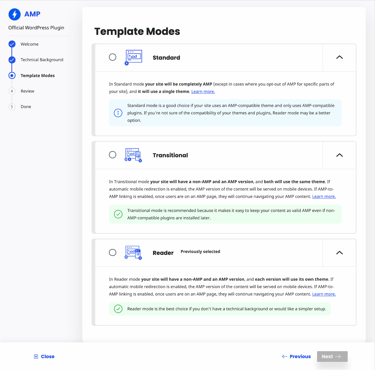 , AMP Plugin 2.0 Adds Onboarding Wizard and Expanded Reader Mode