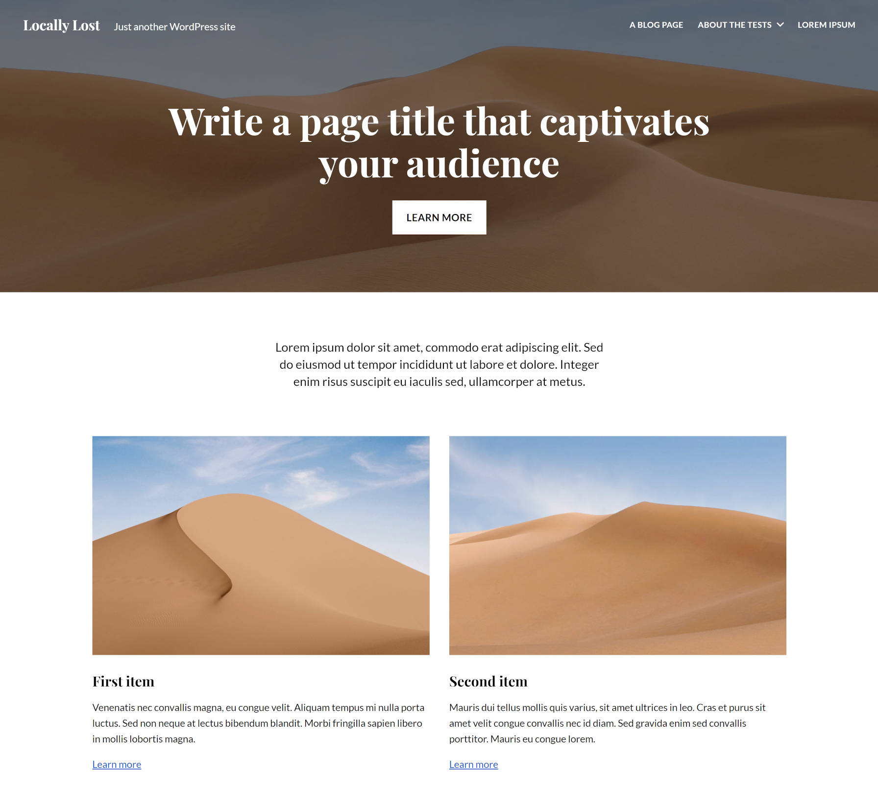 Page layout from the Twentig WordPress plugin.