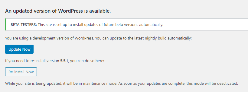 , WordPress Auto-Update System Misfires, Updating Live Sites to an Alpha Release