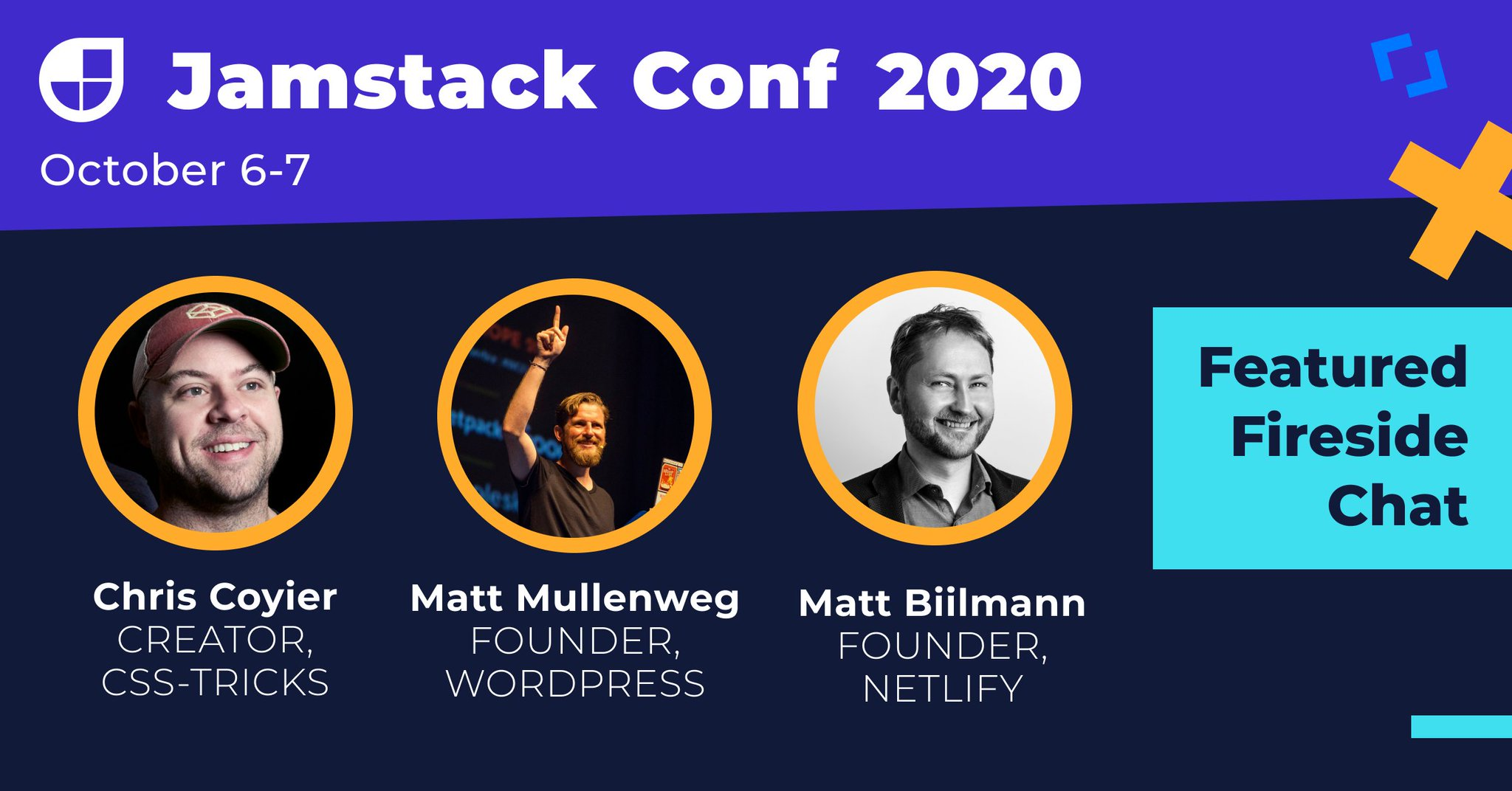 , Virtual Jamstack Conf to Feature Fireside Chat with Matt Mullenweg and Matt Biilmann, October 6