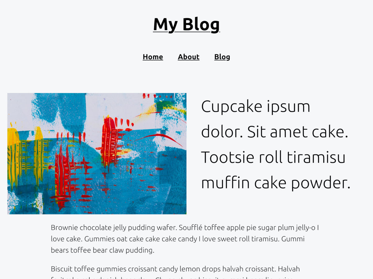 Screenshot packaged with the Q WordPress theme.