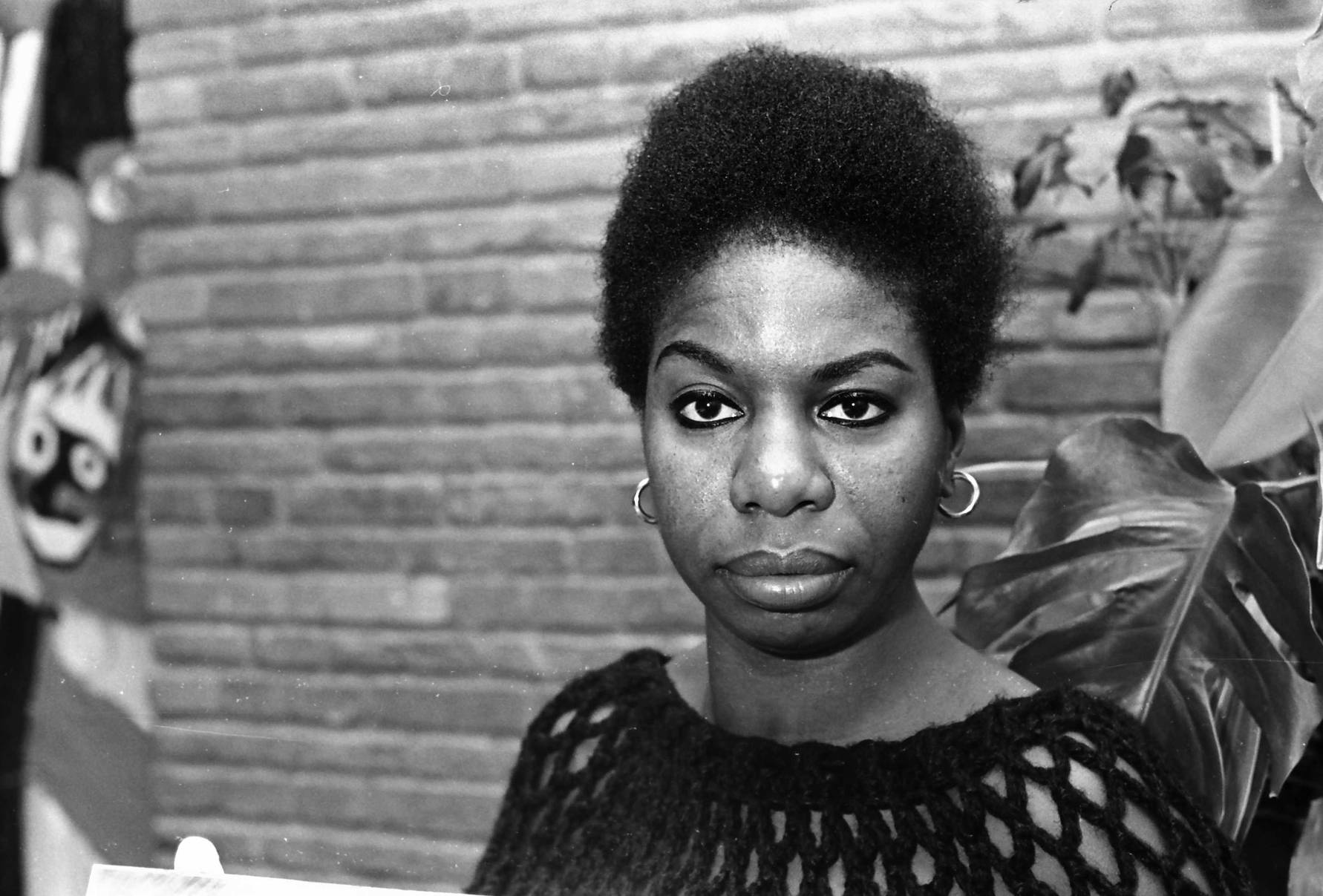Nina Simone, American singer and songwriter.