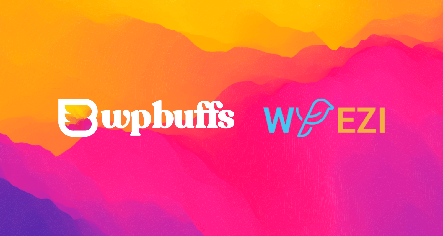 Decorative image that displays the WP Buffs and WP EZI logos.