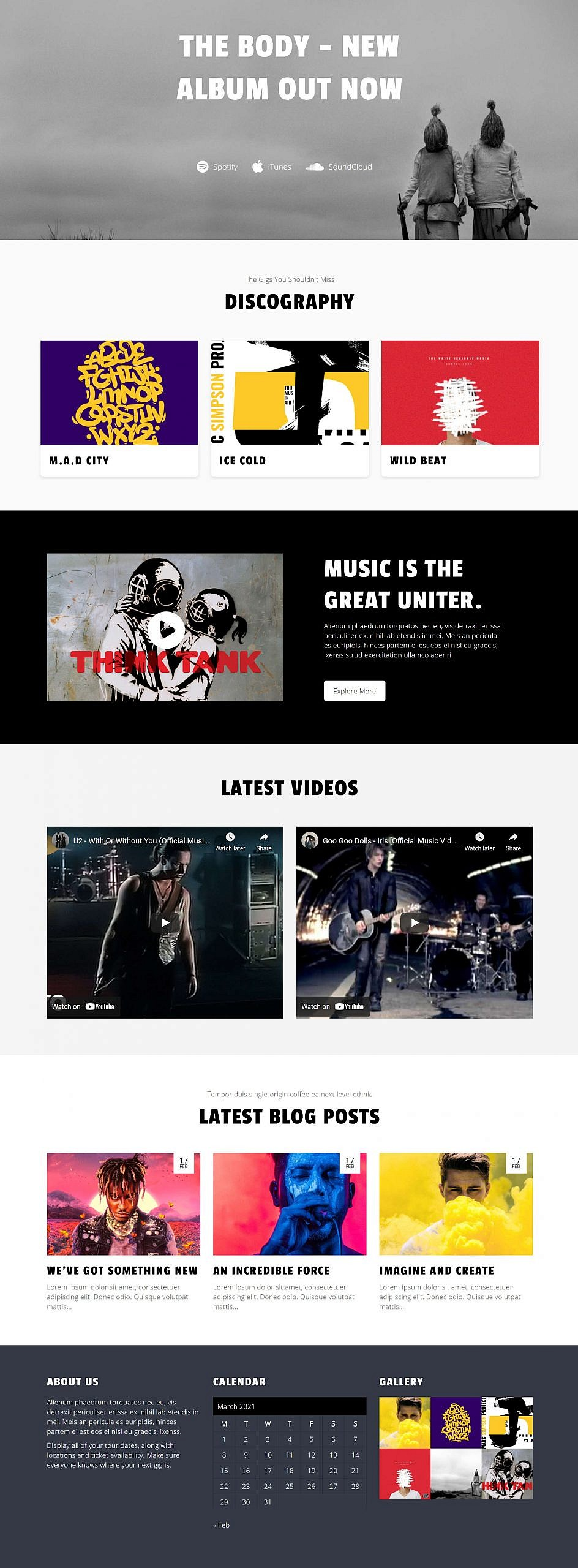 , Recreating the Music Artist WordPress Theme Homepage With the Block Editor – WordPress Tavern, Rojak WP