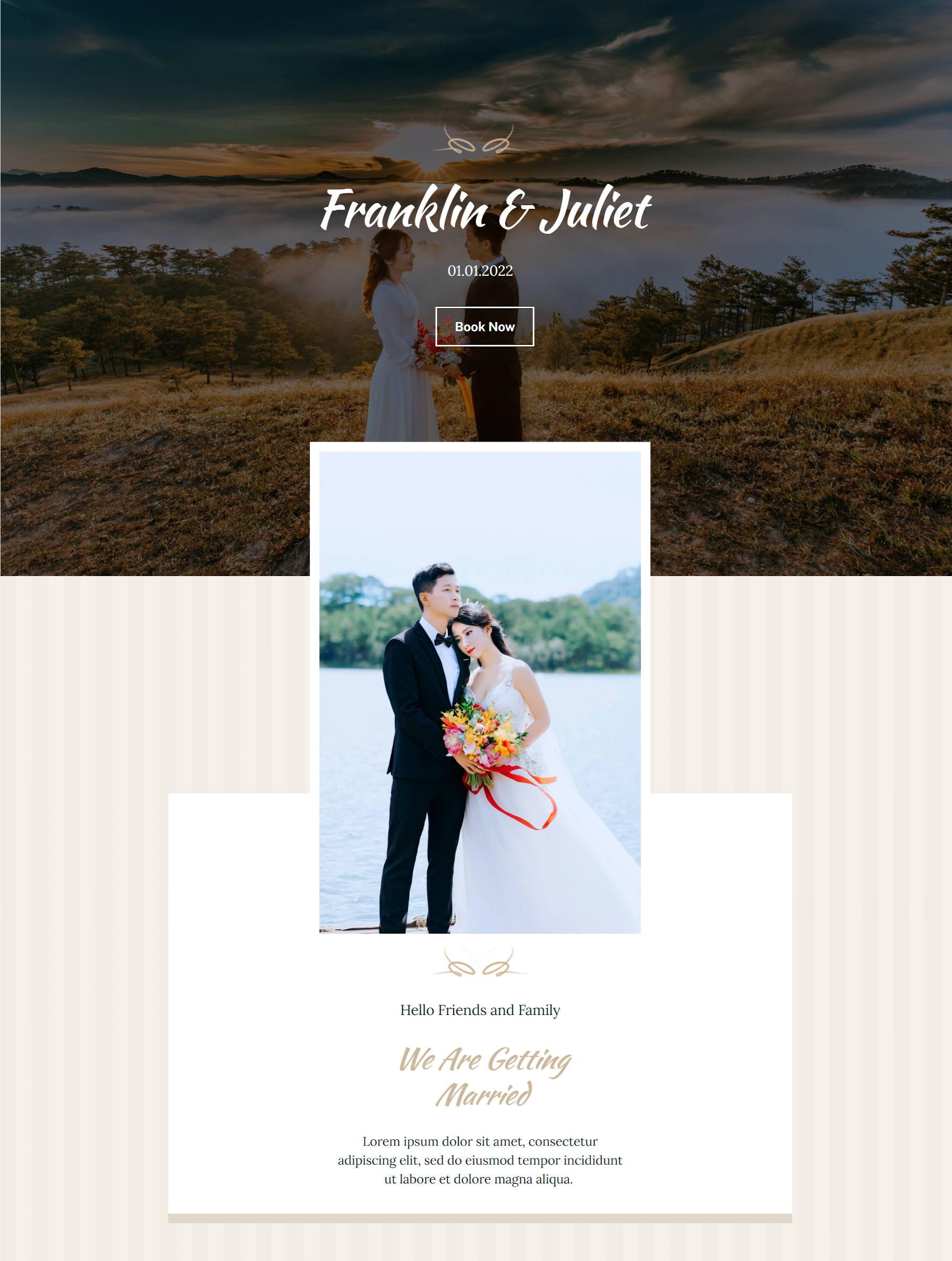 , Recreating the Classic Wedding WordPress Theme Homepage With the Block Editor – WordPress Tavern, Rojak WP