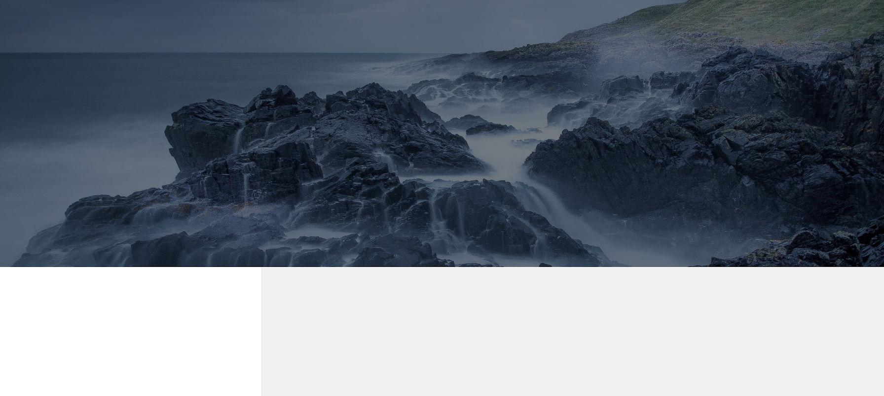 Screenshot of a landing page built with Twenty Fifteen.