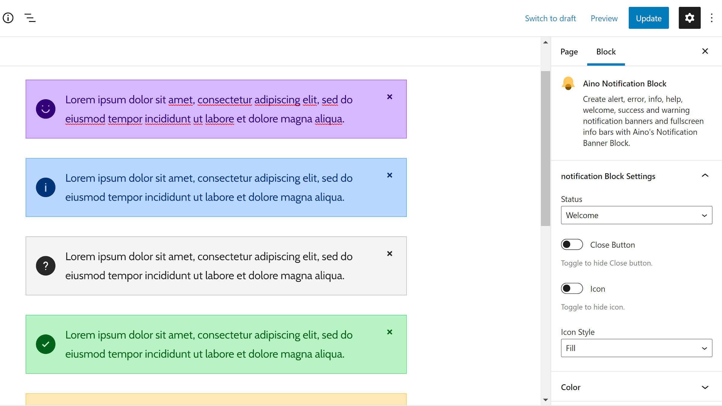 Build Notification Banners With ElmaStudio's Latest Block Plugin